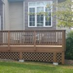 Brown Pressured Treated Wood Deck Construction
