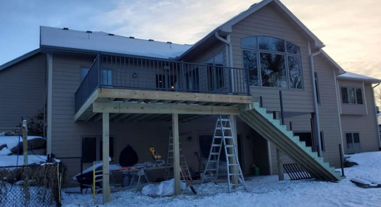 Recently Completed Timbertech Deck In Ham Lake MN