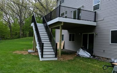 Composite AZEK Deck Built In Andover Minnesota.
