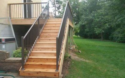 Green Treated Wood Deck Built In Roseville, MN By Thunderstruck Restorations