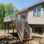 Wood Deck Built By Thunderstruck Restorations In Andover MN