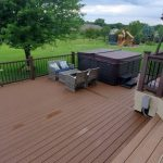 14 x 24 foot deck addition for hot tub completed by Thundestruck Restorations